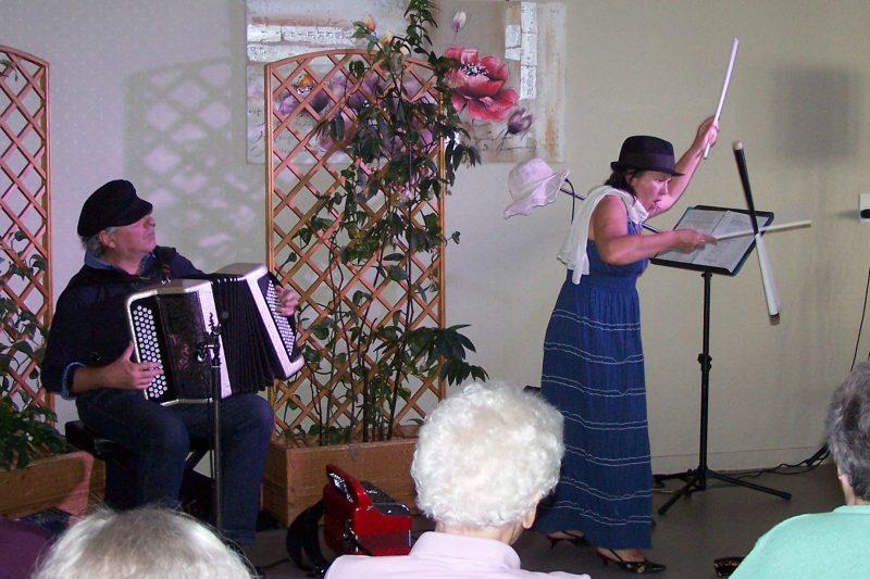 Spectacle musical en Ehpad