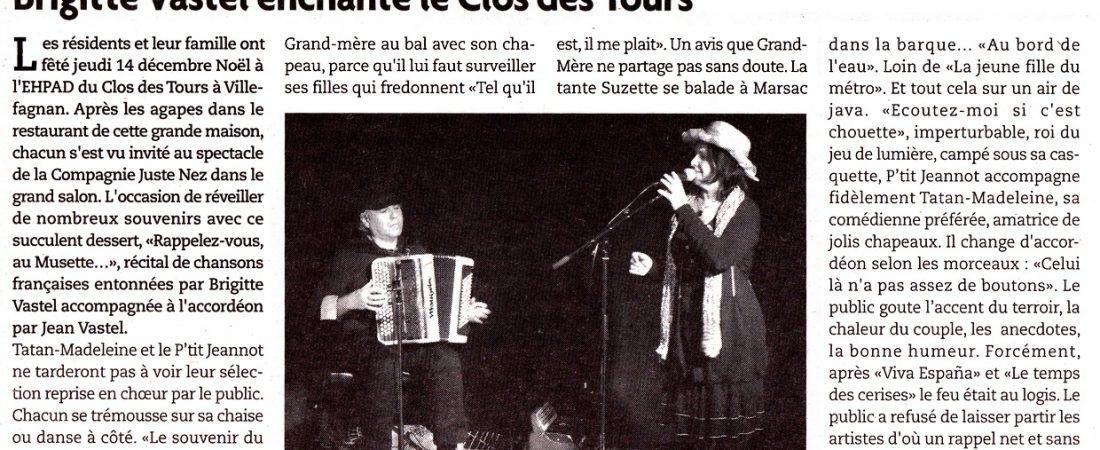 Brigitte Vastel enchante le Clos des Tours